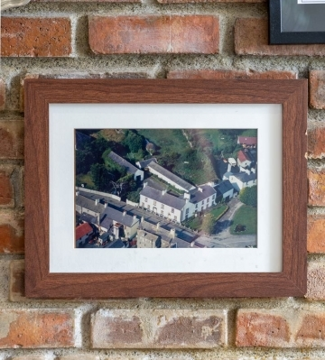 Brownes on the Green Aerial Photograph in Photo Frame